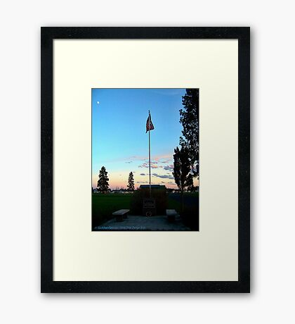 Old Glory Dusk (Veteran's Memorial) Framed Print