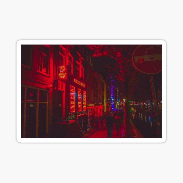 Red Light District Amsterdam Sticker