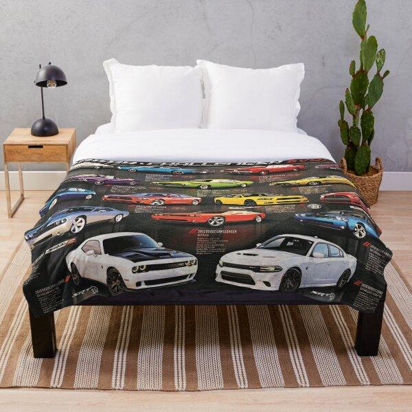 Charger Challenger MOPAR Automotive Evolution History Poster Throw Blanket