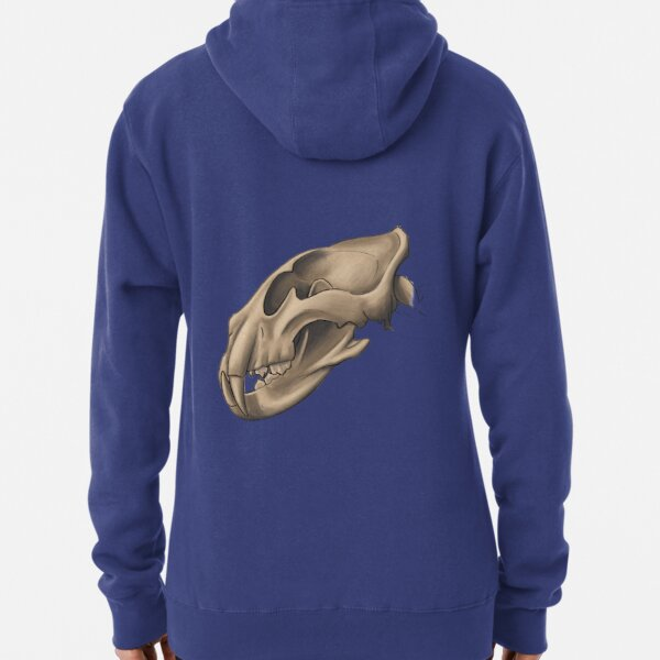 Anatomically correct adult african lion skull Pullover Hoodie