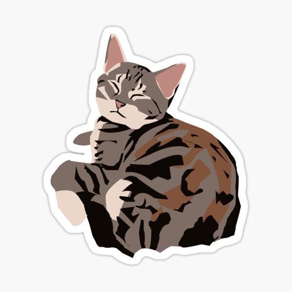 Gray Tabby Kitty Sticker