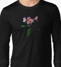 Lovely Pink Asiatic Lilies Long Sleeve T-Shirt