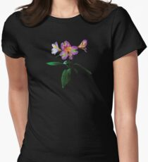 Lovely Pink Asiatic Lilies Women's Fitted T-Shirt