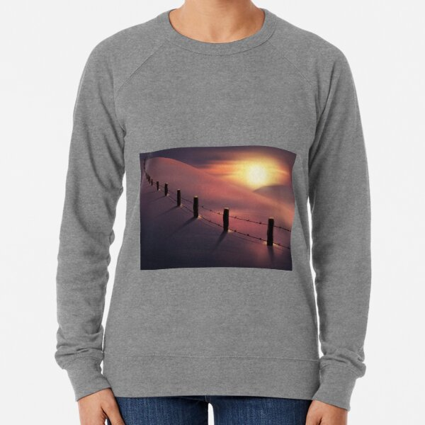 Early morning snowy hills Lightweight Sweatshirt