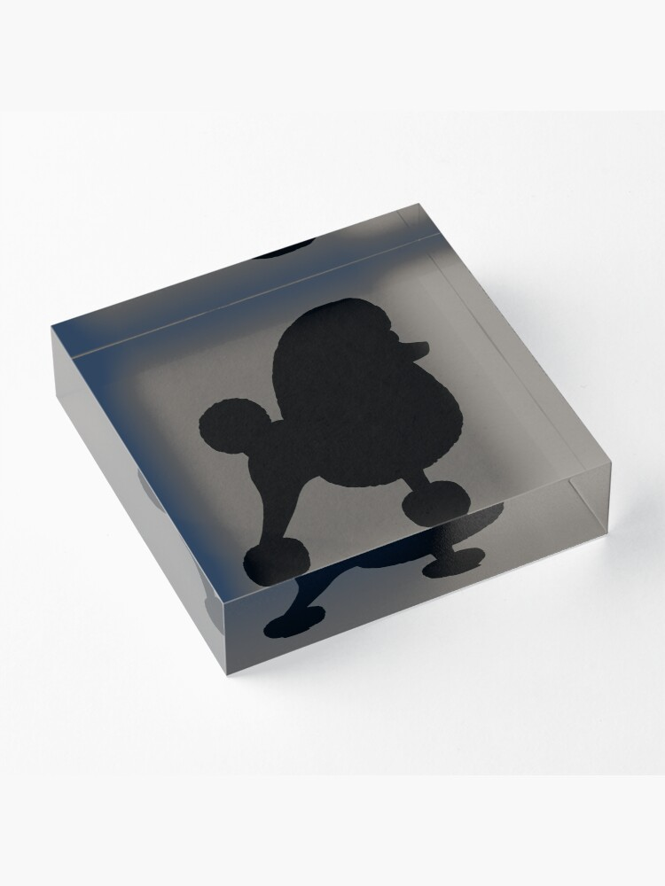 Alternate view of Fancy Toy Poodle Silhouette Acrylic Block