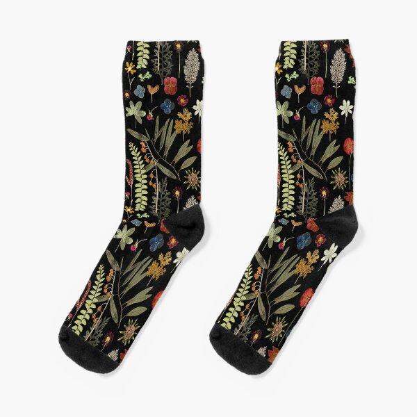 Botanical Dark Floral  Socks