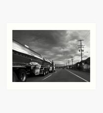 CHROME TANKER Art Print