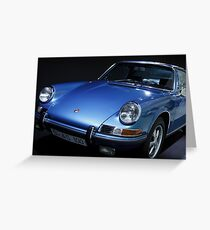 blue porsche car Greeting Card