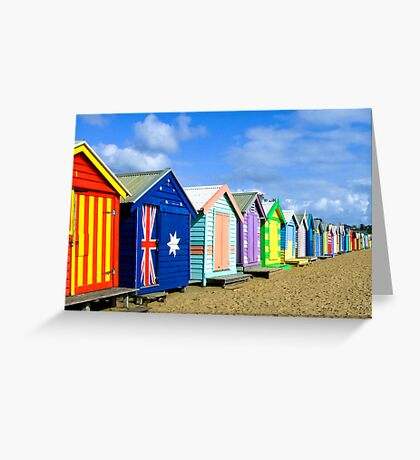 Beach Huts at Brighton Victoria Greeting Card