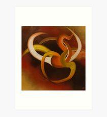 Jeux des lumieres no.1 - (Light dance No.1) Art Print