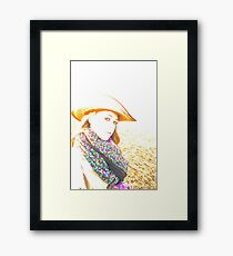 Cowgirl Assistance Framed Print