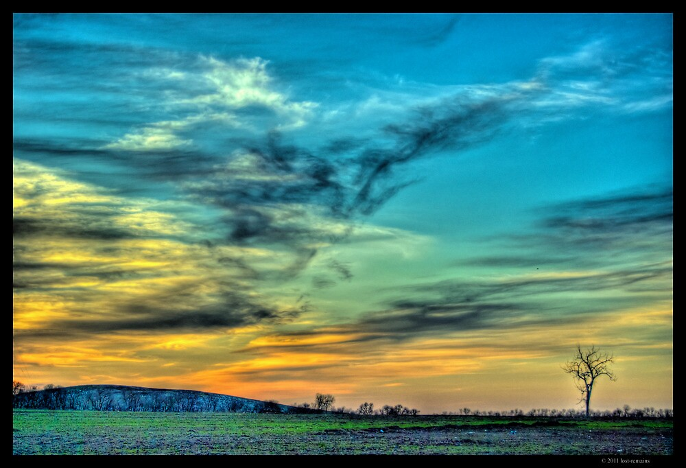 May Sunset in North Dakota by lost-remains