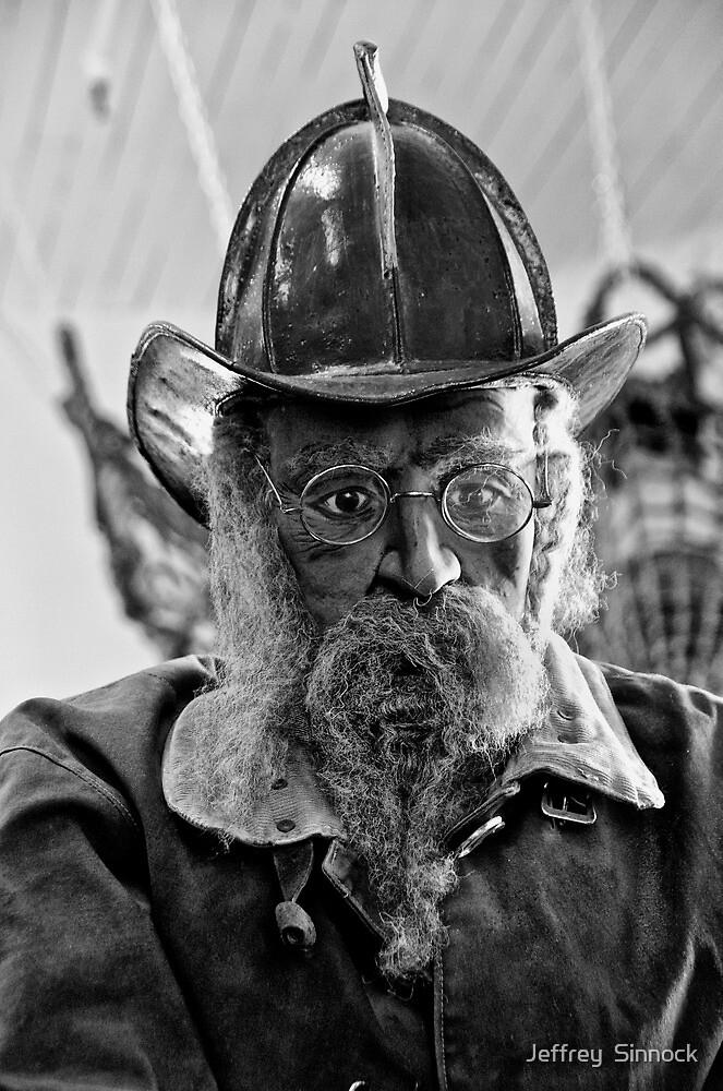 Old Fireman by Jeffrey  Sinnock