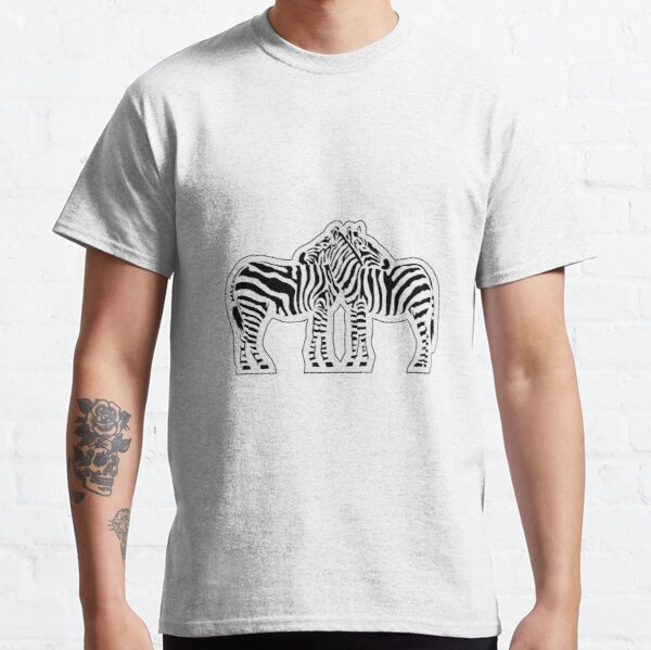 Loving Zebras with Cutout Classic T-Shirt