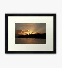 Chinderah Sunset Framed Print