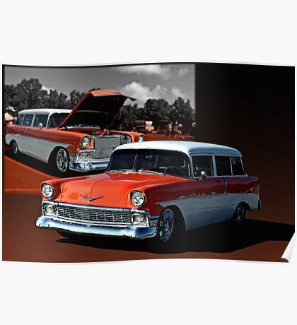 1956 Chevrolet 2 Door Station Wagon Poster
