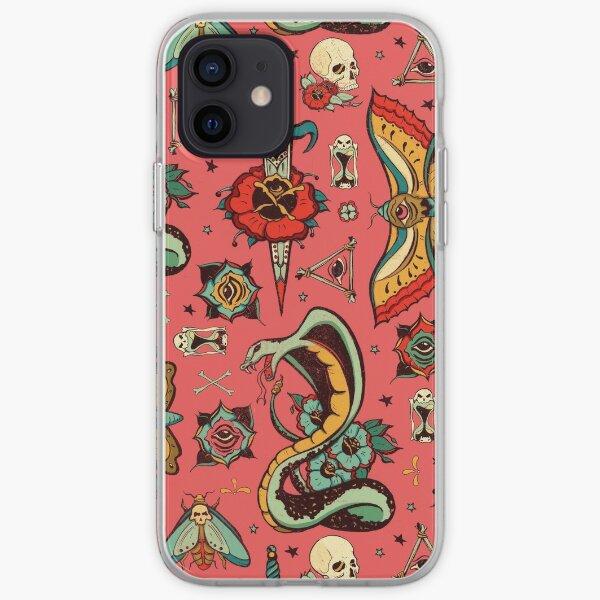 Pink Flash Tattoo Pattern iPhone Soft Case