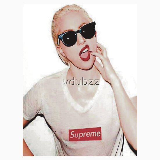 1d916f52d243 Lady Gaga, a t-shirt of lady gaga, gaga, and supreme goodness.