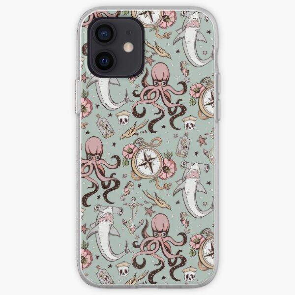 Grey Shark Pattern iPhone Soft Case