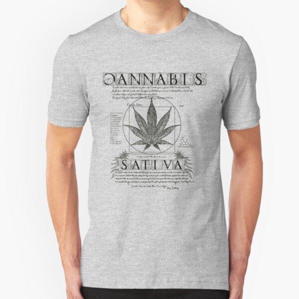 Vitruvian Cannabis Slim Fit T-Shirt