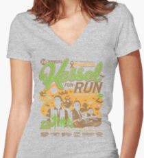 Kessel Fun-Run (12-Parsec Race to Cure Wookiee-Pox) Women's Fitted V-Neck T-Shirt