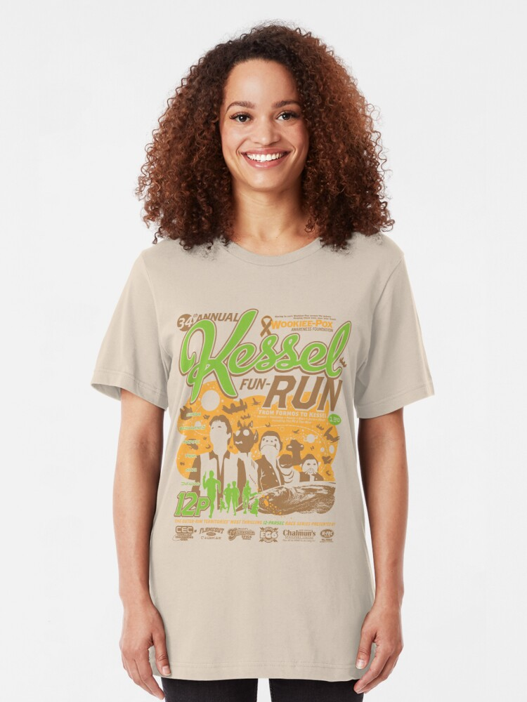 Alternate view of Kessel Fun-Run (12-Parsec Race to Cure Wookiee-Pox) Slim Fit T-Shirt