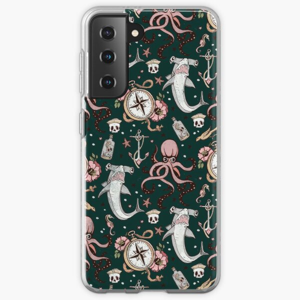Dark Sea Creature Pattern Samsung Galaxy Soft Case