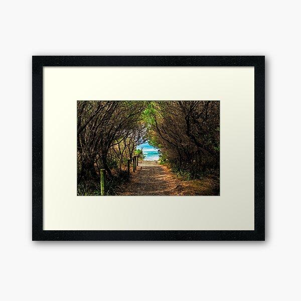 Walk down to Bendalong Beach  Framed Art Print