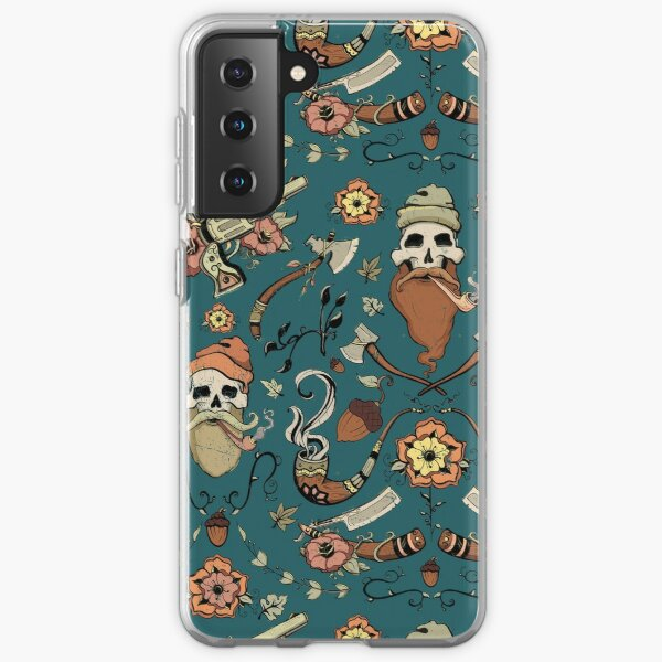 lumberjack skulls pattern Samsung Galaxy Soft Case