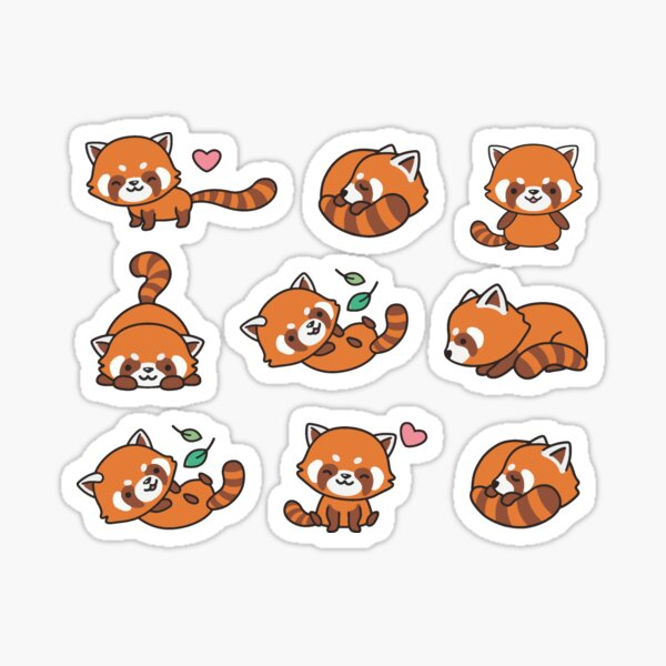 Red Panda Pattern Sticker