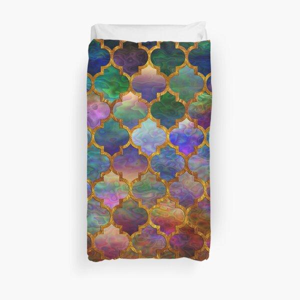 Arabic moroccan mosaic pattern Duvet Cover