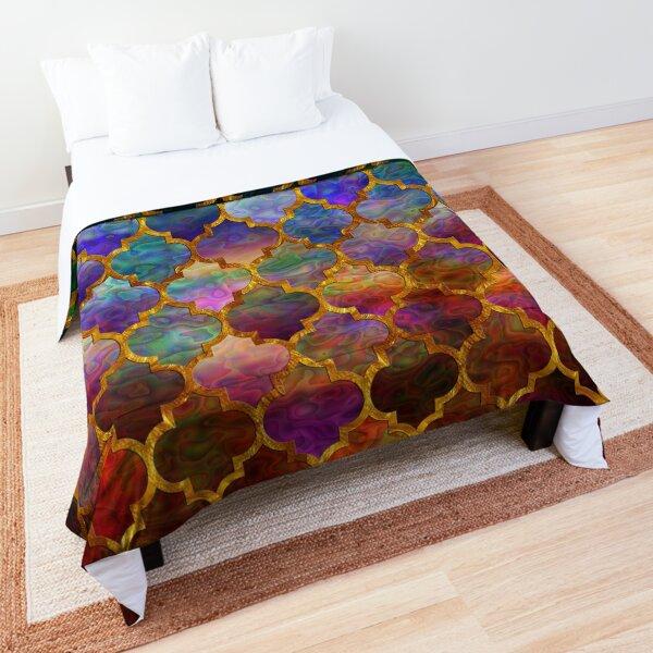 Arabic moroccan mosaic pattern Comforter