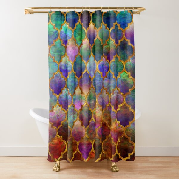 Arabic moroccan mosaic pattern Shower Curtain