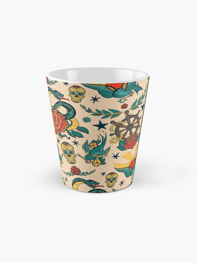Alternate view of Punk Tattoo Pattern Design and Illustration Mug
