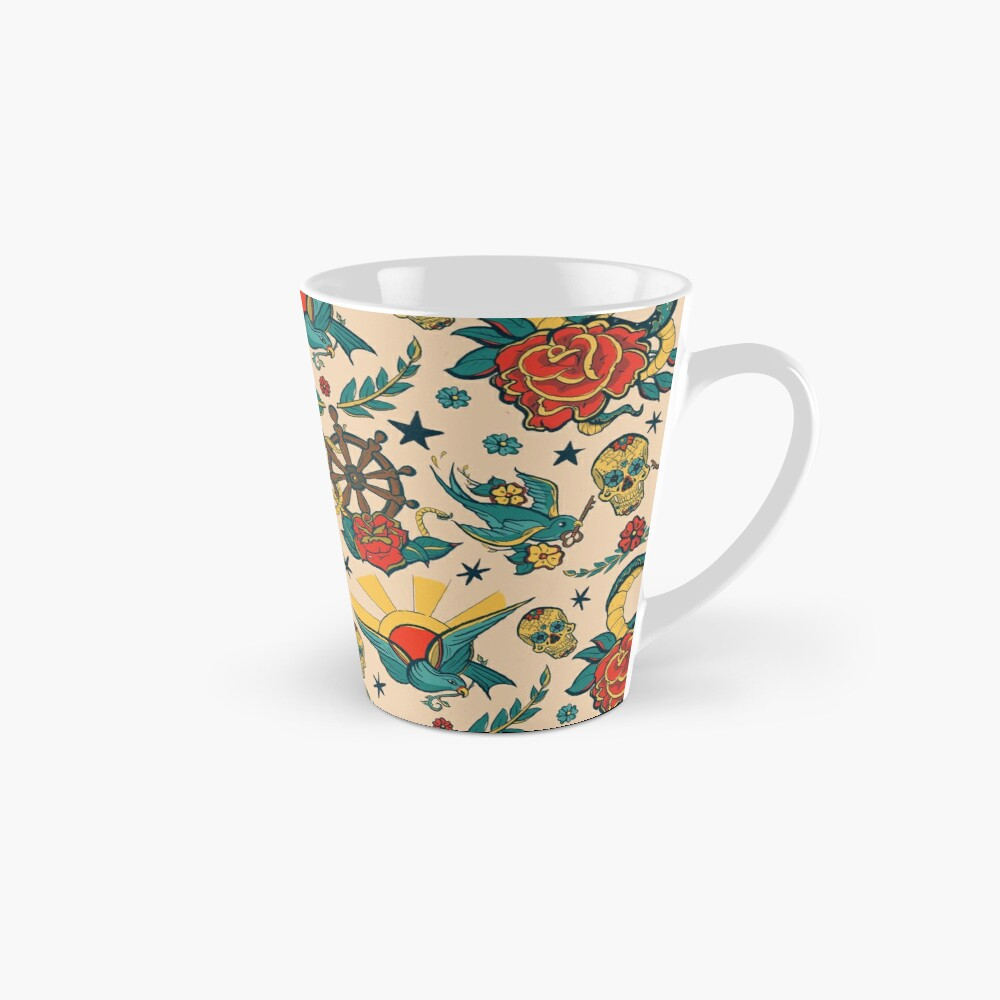Punk Tattoo Pattern Design and Illustration Mug