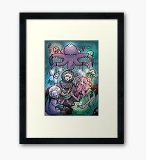 Midnight Tea in the Octoking's Garden Framed Print