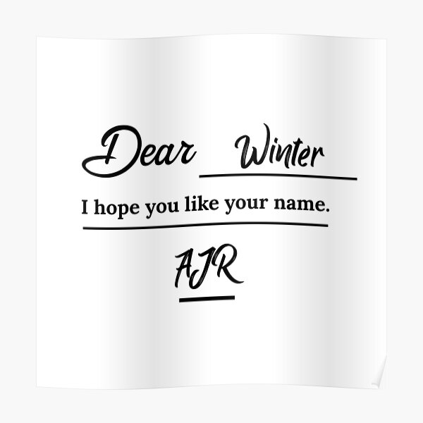 Ajr Neotheater Posters Redbubble Изображение dear winter guitar chords. redbubble