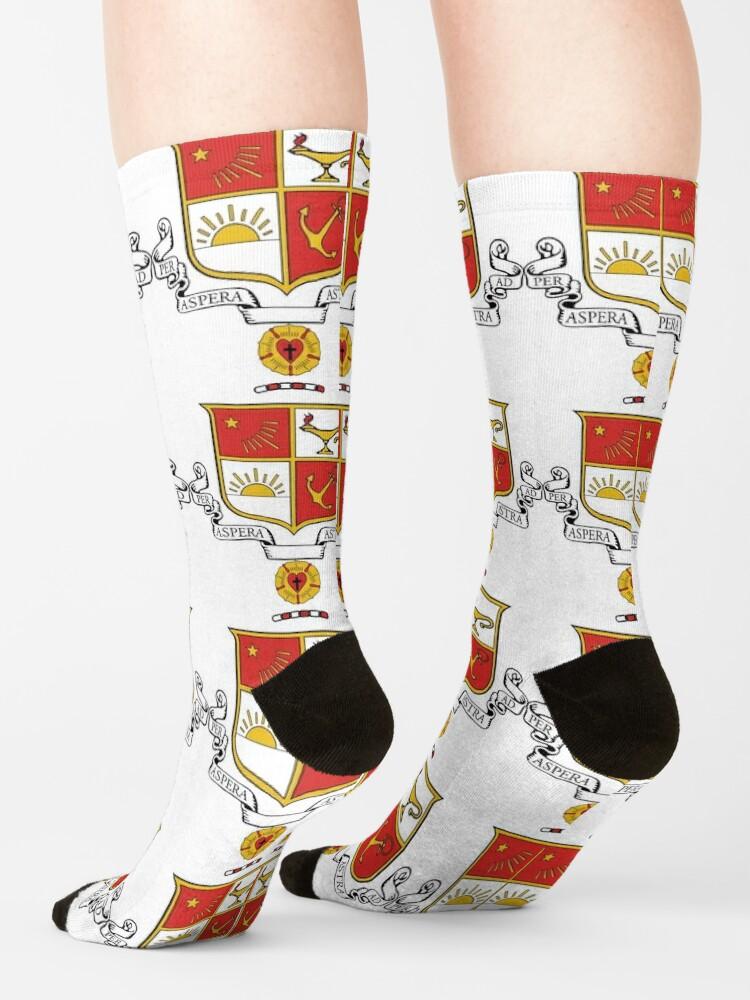 Alternate view of Beta Sigma Psi - Crest Socks