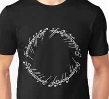 Lord of the Rings - The Ring (White) Unisex T-Shirt