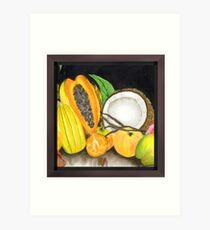 Dry Coconut & Juicy Friend Fruits Art Print