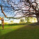 Children and The Tree by Amlan Sanyal