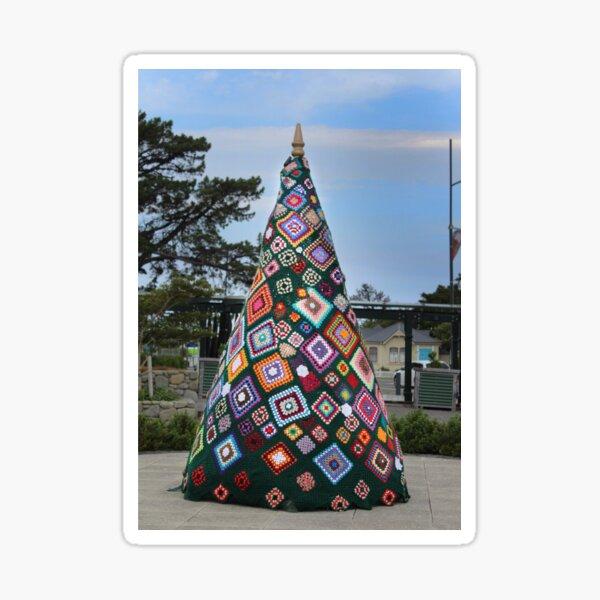 Crocheted Christmas Tree, Featherstone Sticker