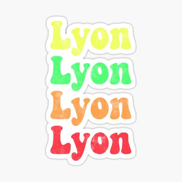 Lyon rétro - Rouge à jaune Sticker