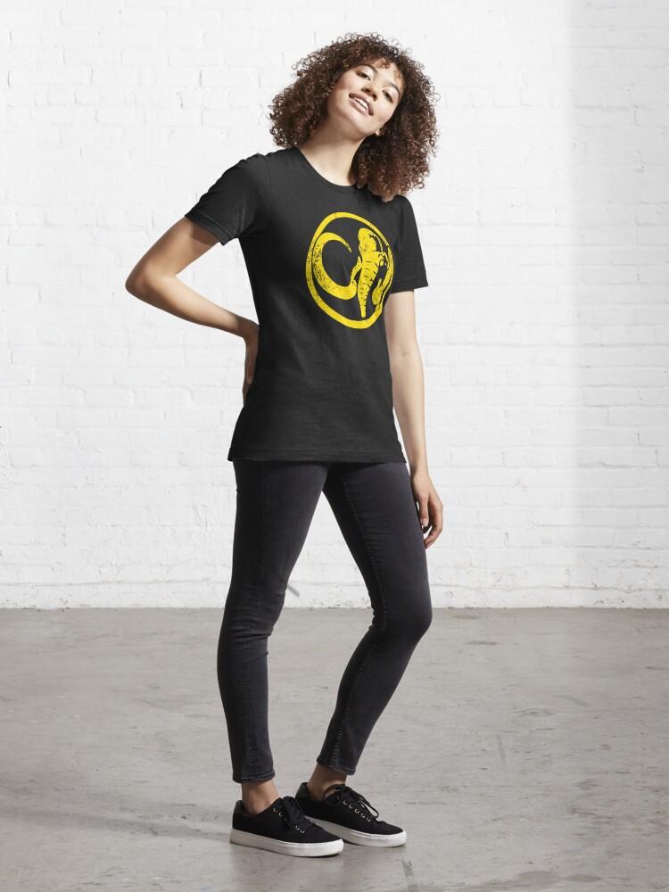 Alternate view of Black Mastodon Power Symbol - Distressed Essential T-Shirt