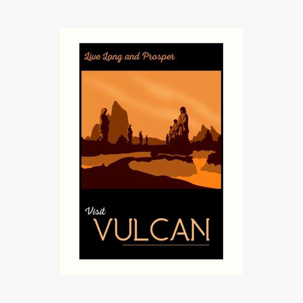 Vulcan Travel Poster Art Print