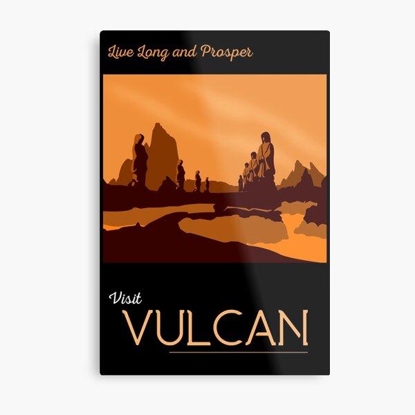 Vulcan Travel Poster Metal Print