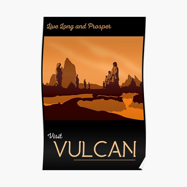 Vulcan Travel Poster Poster