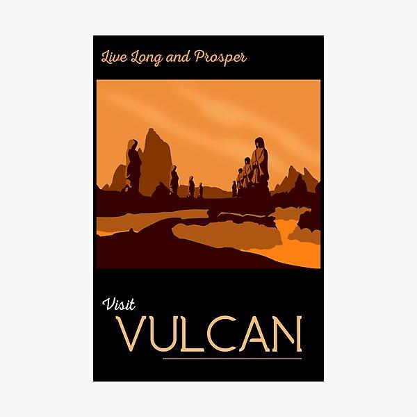 Cartel de viaje Vulcano Lámina fotográfica