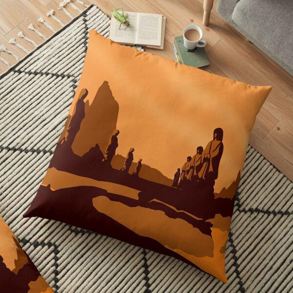 Vulcan Travel Poster Floor Pillow