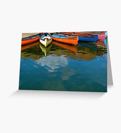 Canoes in Peasholm Park Greeting Card